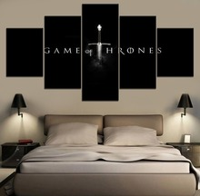 Wall Art Home Decor Modular Picture One Set Game Poster 5 Pieces High Quality Canvas Print of thrones Movie Painting