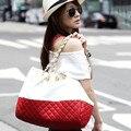 Confecção de malhas do Saco Das Mulheres da forma Bolsas De Couro De Alta Mulheres bolsa de Ombro Bolsa Feminina Messenger Bags Big Capacidade Totes SAC A Principal