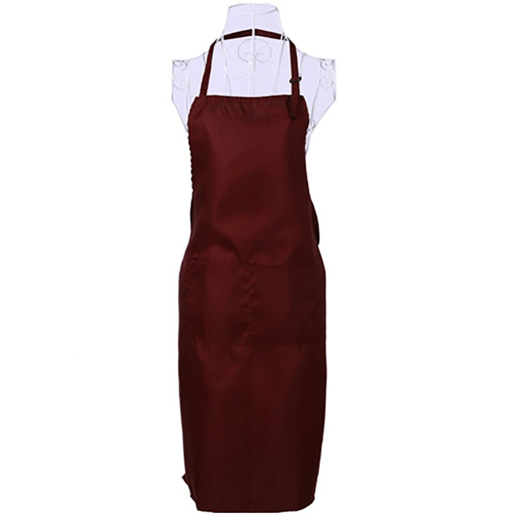 Black/Burgundy/Dark Green/Blue Adjustable Men Womens Chefs Cafe Hotel Kitchen Baking Ware Cooking Cook Apron Bib