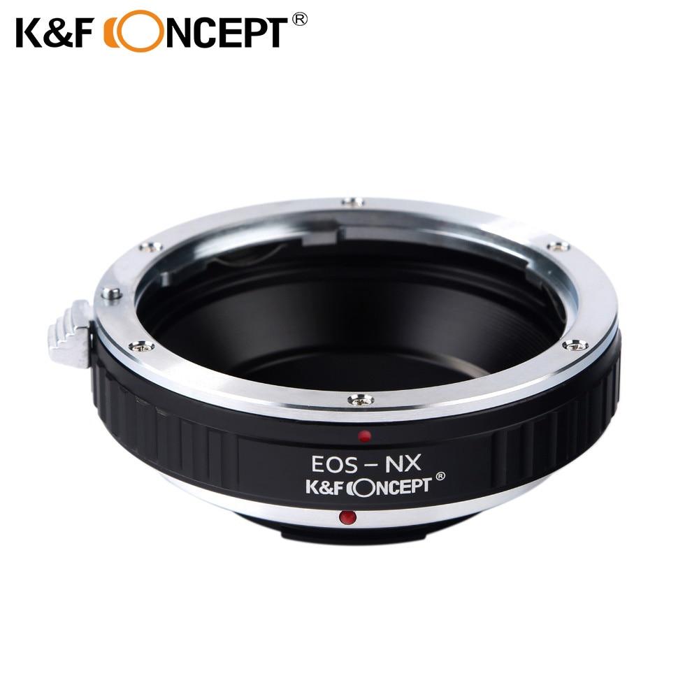 K&F CONCEPT Adaptérový kroužek objektivu pro EOS EF-S Montážní kroužek objektivu pro Samsung NX Mount Camera Body