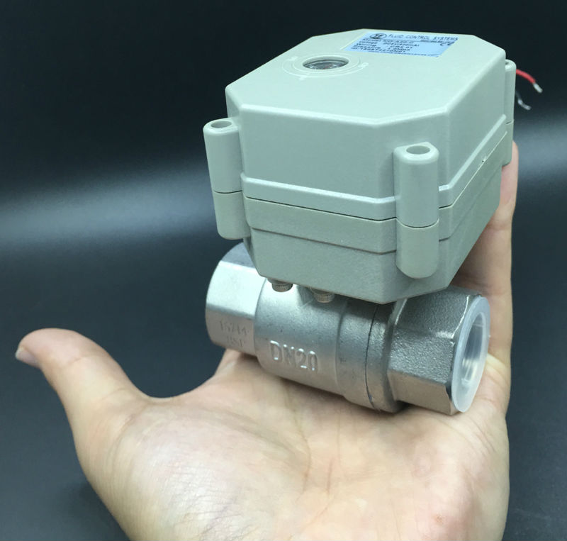 TF20-S2-C DC12V 2/3/5/7 Wires 2 Port Electric Valve Stainless Steel NPT/BSP 3/4'' DN20 Full Port Motorized Ball Valve tf20 s2 c high quality electric shut off valve dc12v 2 wire 3 4 full bore stainless steel 304 electric water valve metal gear page 9