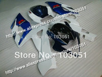 Injection molding custom for 2005 suzuki gsxr 1000 fairings K5 2006 GSXR 1000 fairing 05 06 glossy dark blue white HM11