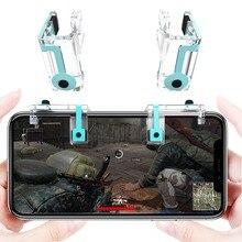 2 個ゲームトリガー火災ボタン Pubg 携帯ストルコントローラーシュータートリガーゲーム用スマートフォン