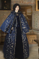 Renaissance Costume Short Cape Cloak Handmade Brocade Presentation Dress Renaissance Dresses For Women