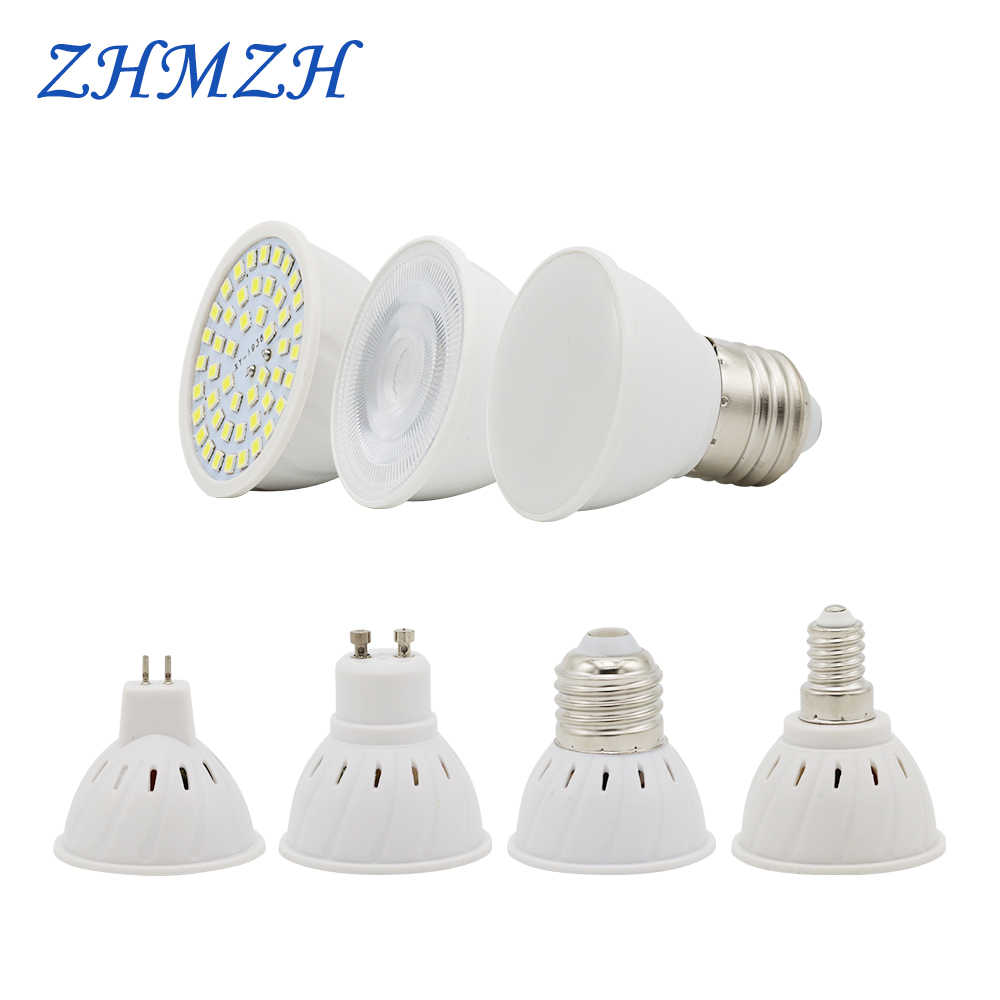 220V LED Lamp Cup E27 E14 MR16 GU10 Bulb Light Lampada LED Spotlight 48 LEDs 2835 Chip SMD Bombillas LED Lighting Corn Bulbs 6W