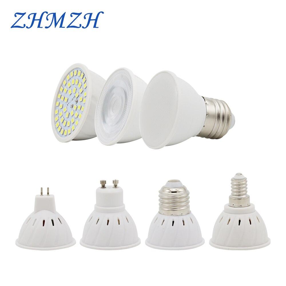 220V lampe à LED Tasse E27 E14 MR16 GU10 Ampoule Lampada LED Projecteur 48 LED s 2835 Puce SMD Bombillas LED Éclairage De Maïs Ampoules 6W