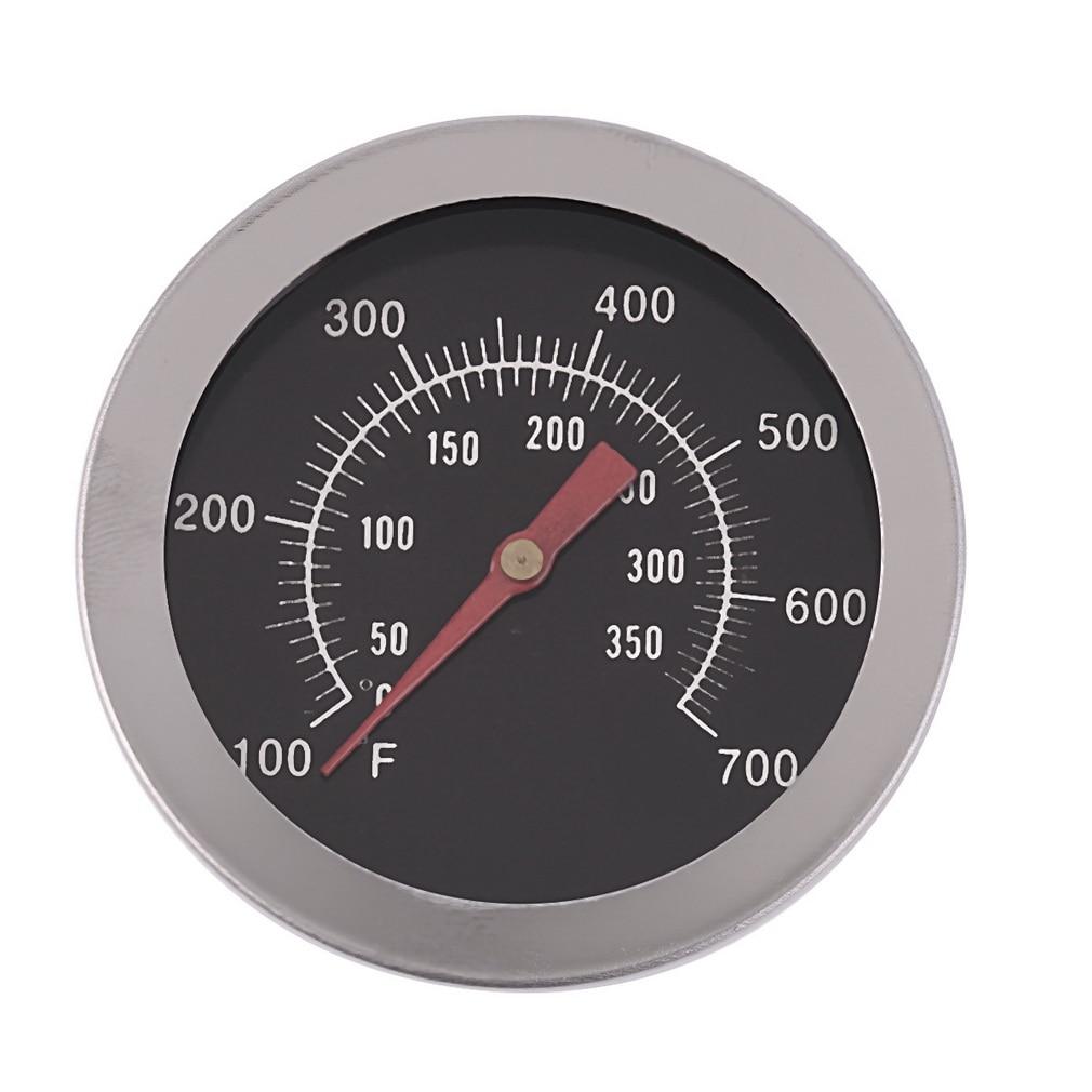 दोहरी गेज 500 डिग्री खाना पकाने के उपकरण के साथ स्टेनलेस स्टील ओवन थर्मामीटर बीबीक्यू स्मोकर पिट ग्रिल द्विधातु थर्मामीटर अस्थायी गेज