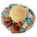 SAF-Женщины Лето Складная Широкий Большой Брим Floppy Пляж Hat Вс Соломенная Шляпка Хаки