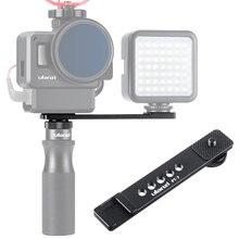 Ulanzi PT 7 Vlog uchwyt przedłużający uchwyt z zimną stopką 1/4 śruba na światło LED do kamery mikrofon Gopro Vlogging Mount