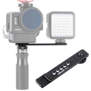Image 1 - Ulanzi PT 7 Vlog uchwyt przedłużający uchwyt z zimną stopką 1/4 śruba na światło LED do kamery mikrofon Gopro Vlogging Mount