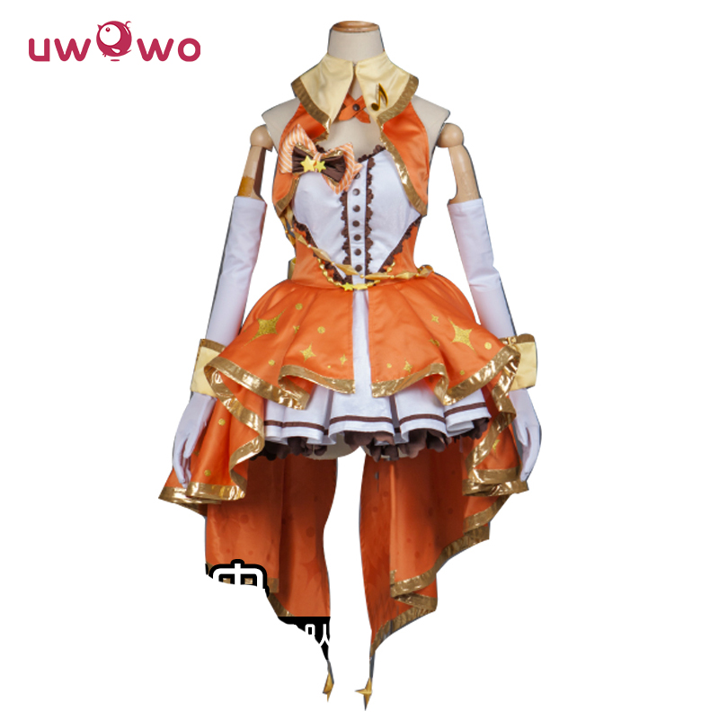 Honda Mio Cosplay THE IDOLM@STER CINDERELLA GIRLS IDOLMASTER ASCOSING Orange Costume Women