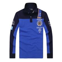 New 2017 aeronautica militare camisa masculina polo shirt men Long sleeve shirts high quality Air force one polo clothing 65wy