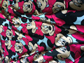 150 x100cm Cotton fabrics Elasticity satin-like Minnie Mouse printing cloth DIY Sewing underwear Shirt Living Textiles Patchwork