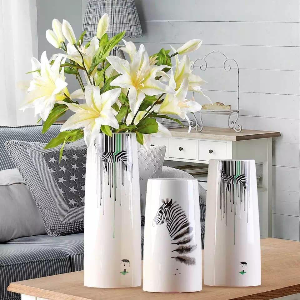 aliexpresscom  buy modern ceramic zebra flower vase home  - aliexpresscom  buy modern ceramic zebra flower vase home decorationanimal flower vase tabletop decor craft new house gift from reliable vasehome