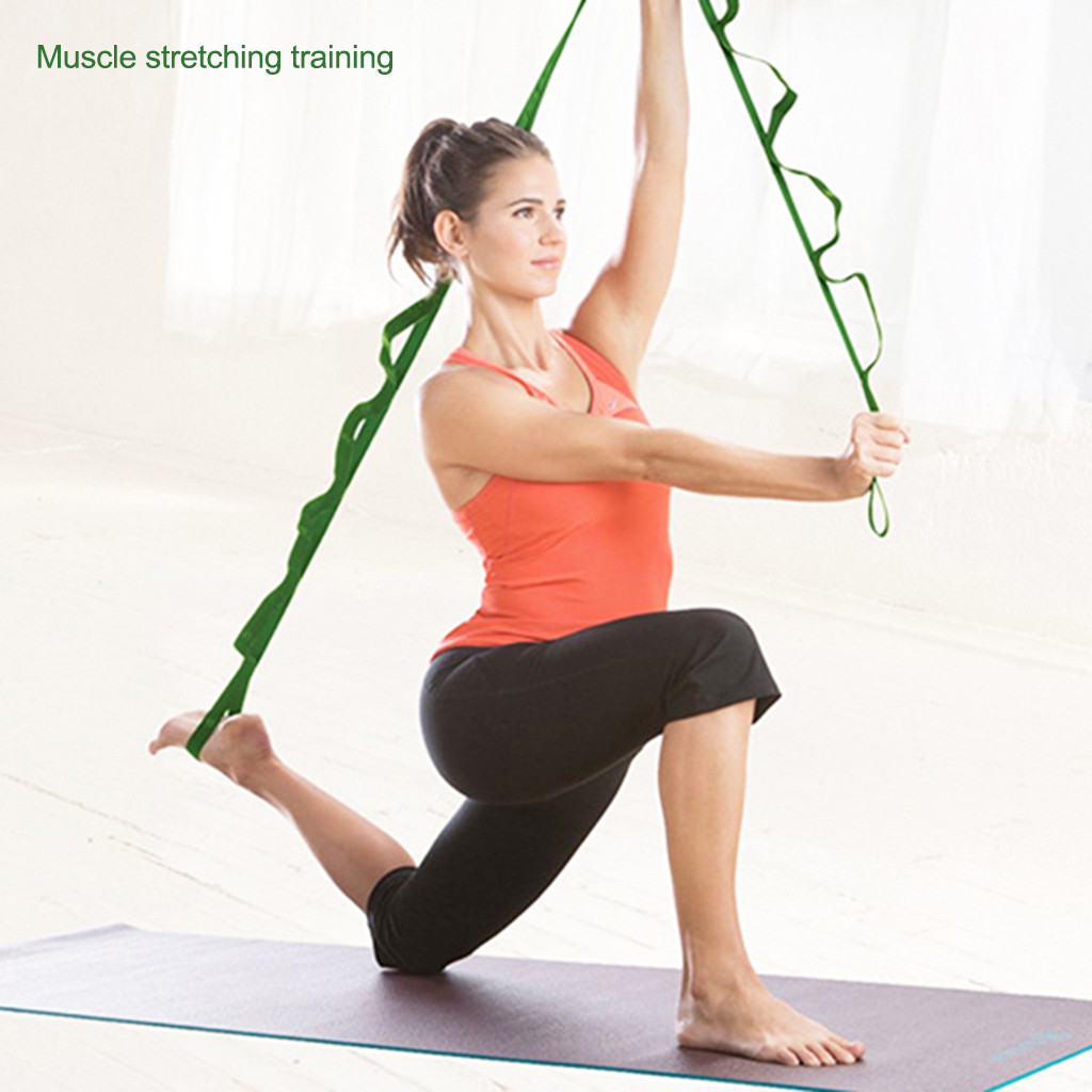 Yoga Sporting Hammocks Extension Stretch Ropes Belt Sturdy Two Straps For Aerial Yoga Outdoor Camping Exercise Tool Health Training #1122 Can Be Repeatedly Remolded.