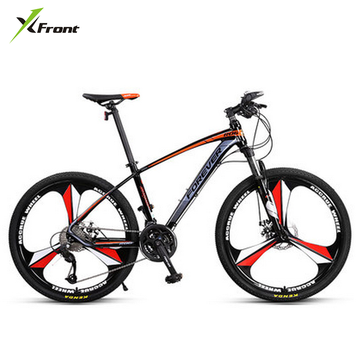 New Brand Aluminum Alloy Frame 27 Speed Disc Brake One Piece Wheel Mountain Bike Outdoor Downhill Bicicleta MTB Quality Bicycle