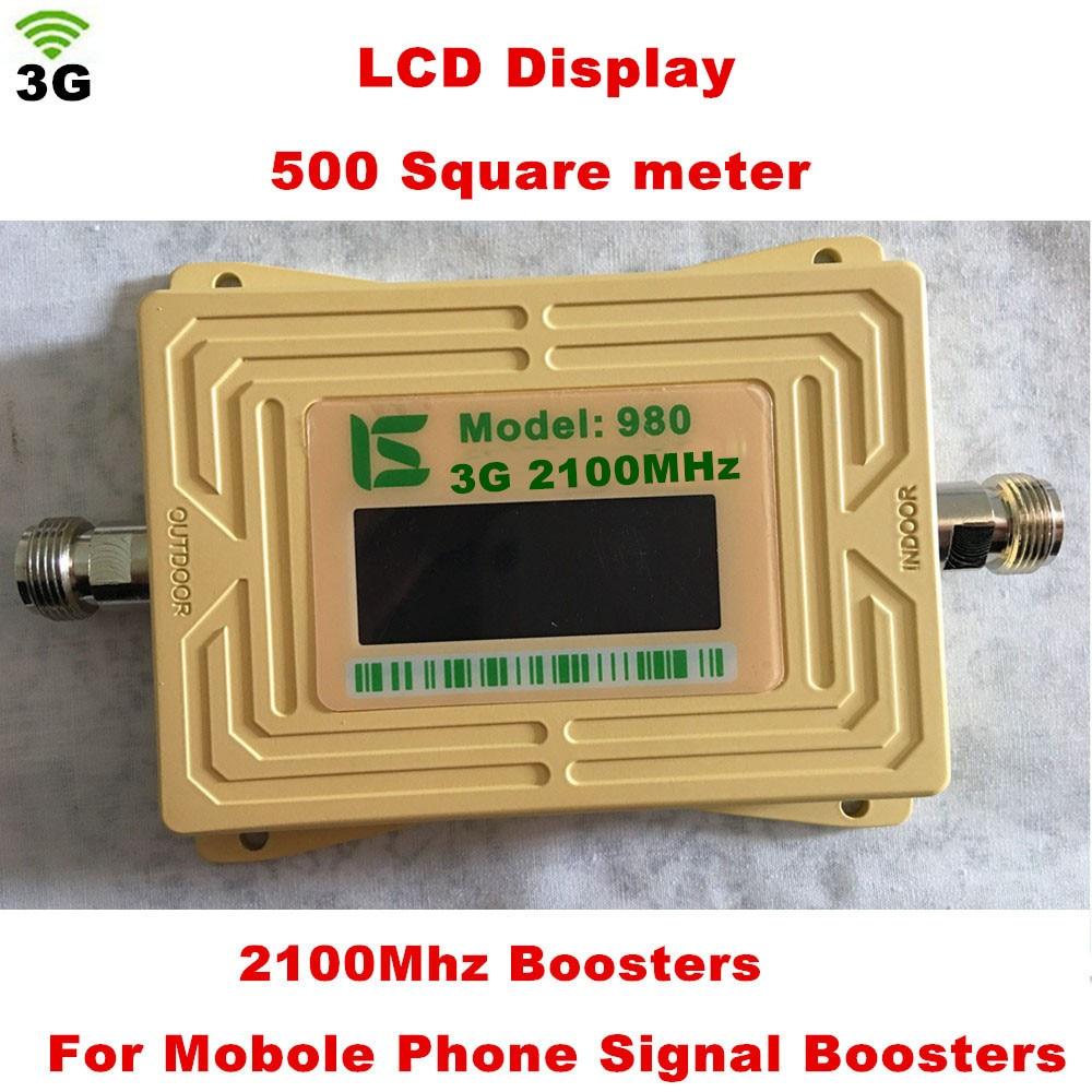 New 2018 3G 980 20dbm Gain 62dbi Phone Signal Booster Repeater 3G Repeater Booster,3G Signal Booster Wcdma 2100mhz Booster