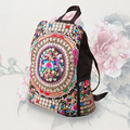 Boho Backpack Fair Trade Bag Hippie Ethnic Hmong Tribal Embroidered Thailand