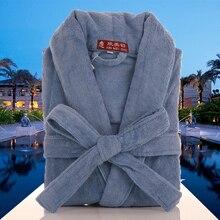 Cotton bathrobe women winter thick pajamas sleepwear nightgown ladies blanket towel fleece warm soft kimono robe home white