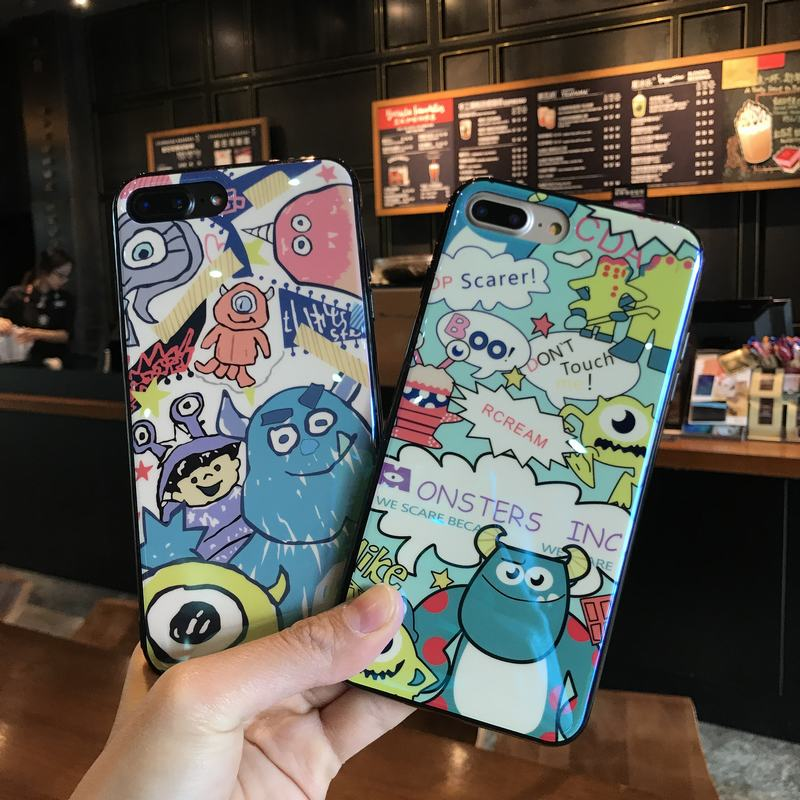 For Apple iphone 7 case blue ray soft tpu back cover case for iphone x case silicone funny iphone 8 cases for iphone 6 6s 7 plus