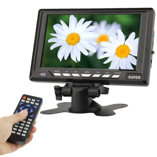 7 8 inch Wide LCD Mini Monitor Analog TV with wide View Angle Support SD MMC