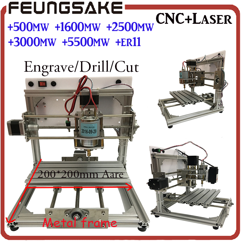 2020 wood router PCB Milling Machine arduino CNC DIY Wood Carving,laser Engraving Machine PVC Engraver GRBL CNC Router fit ER11 стоимость
