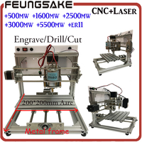 2020 wood router PCB Milling Machine arduino CNC DIY Wood Carving,laser Engraving Machine PVC Engraver GRBL CNC Router fit ER11