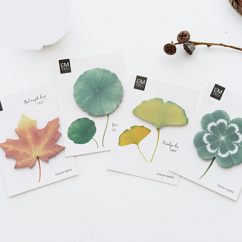 Coloffice 1PC(30heets) Creative Leaf Box Sticker DIY Mail notes/hand accounts/convenient For CarLaptop Bicycle Notebook Stickers