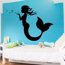 AiyoAiyo Sexy Little Mermaid Wall Sticker for Home Decor Living Room Girls Accessories Decals Waterproof Vinyl Art Stickers