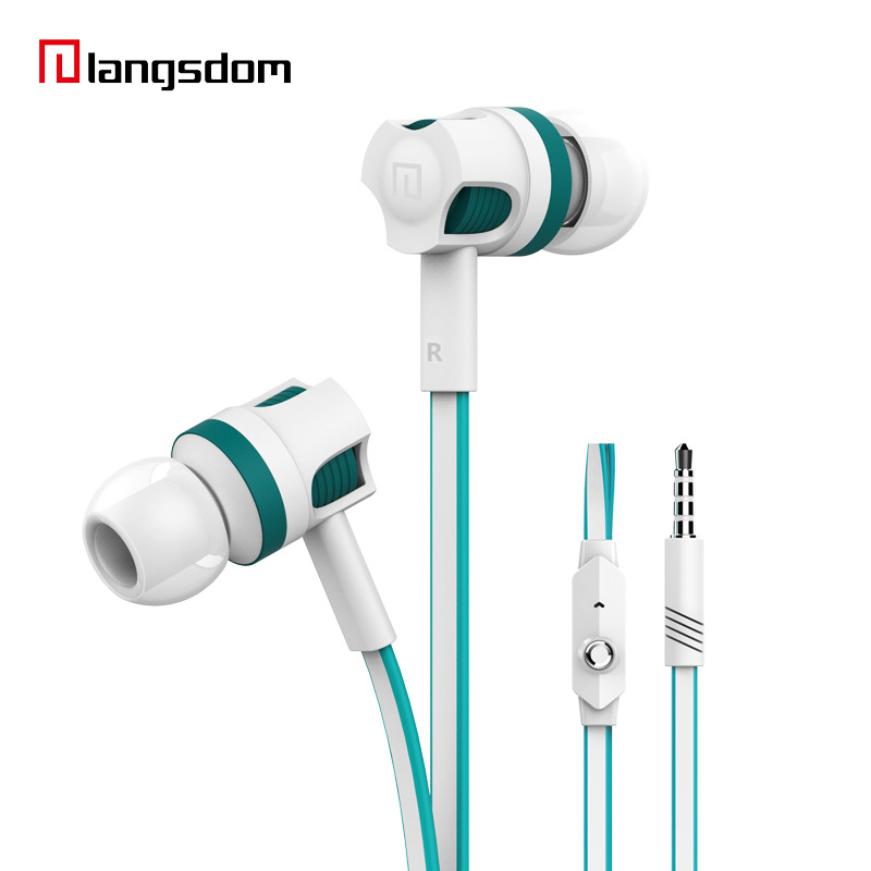 Langsdom Noise Isolating Dynamic Earbud Stereo Music Earphone Wired fone de ouvido In-Ear Earpiece 3.5mm Hand Free with Mic doosl metal earphone noise isolating earbuds hifi music in ear wired for iphone ios android cellphones pc fone de ouvido