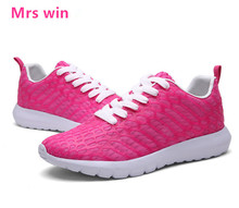 new girls sport trainers Lady sneakers strolling footwear breathable mesh girls's athletic footwear zapatillas mujer free supply