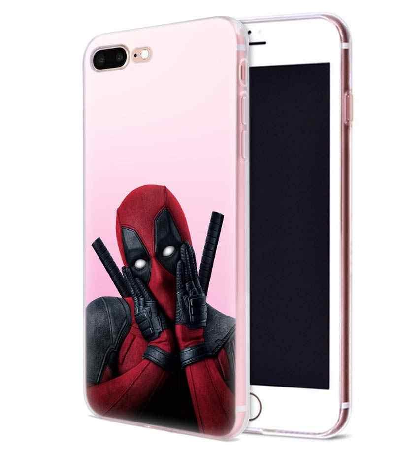Hero Deadpool Harley Quinn funda para iphone XR XS Max 7 8 Plus X 10 5 5SE 5C 6 6S 11 11Pro funda para teléfono TPU funda