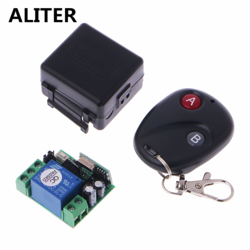 ALITER DC 12V 10A Wireless Remote Control Switch 315MHz Transmitter with Receiver Module dc 12v led display digital delay timer control switch module plc automation new