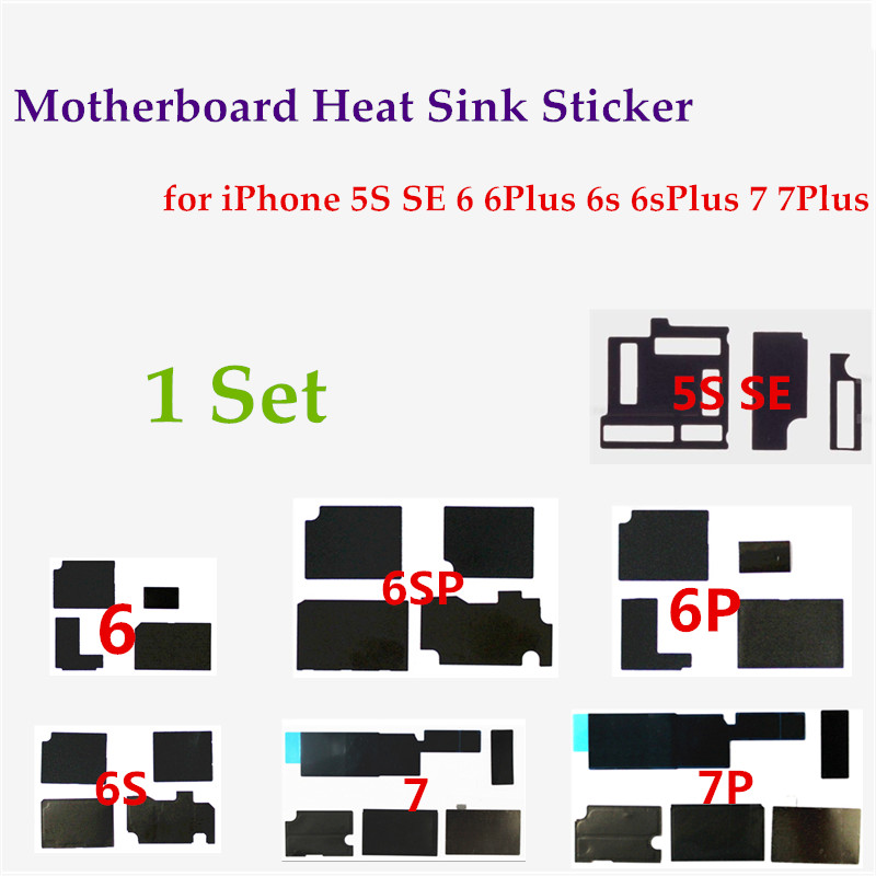 1 Set Anti-static Motherboard Heat Dissipation Adhesive Sticker for iPhone 5s 6 6S 7 plus Logic Board Heat Dissipation Cooling