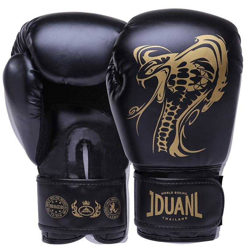 лучшая цена JDUanL 1 Pair Snake Pattern Kids/Audlts Women Men Boxing Gloves for Sandbag Punch Training Muay Thai Karate Fight Mitts DEO