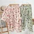 Pijamas de Algodão das mulheres Do Vintage Yukata Conjunto Floral Das Mulheres Pijamas Set Homewear Bonito para As Mulheres 2016 Novo Verão