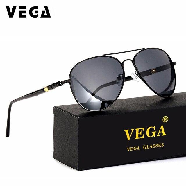 VEGA Eyewear Classic Aviation Sunglasses Polarized Authentic Navy Air Force  Sunglasses Men Women Pilot Glasses with Box 048 43c6427955