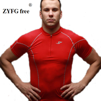 2017 Spring Summer Can Wear A New Short Sleeved Gym T Shirt Zipper Decoration Training Fast