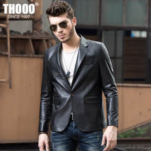THOOO men sheep leather men's dress suits Pitsea Korean version of Slim short paragraph jacket Business
