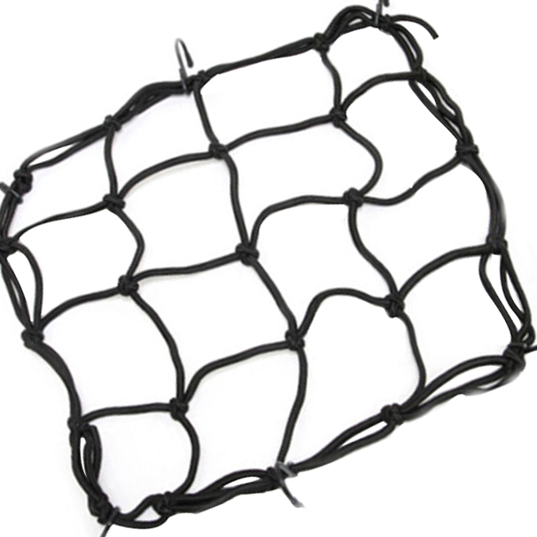 Black Motorcycle Luggage Net Bike Atv Bungee Tank Helmet Web Cords