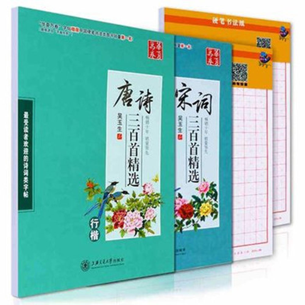 Chinese Poetry Songci Copybook Chinese Calligraphy Pen Pencil Copybooks With Chinese Character Writing Grid Rice Square Exercise