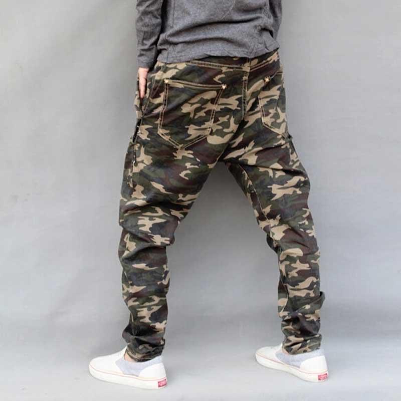 Mænds Militære Camouflage Harem Jeans Bomuld Plus Størrelse Hip - Herretøj - Foto 3