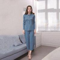 ISSEY новые моды мешковатые брюки костюм со складками Женская одежда Корейский жилет с длинными рукавами комплект из двух предметов MIYAKE костю