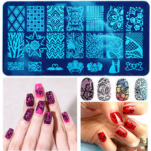 20 Designs Lace Flower Leaves Nail Stamping Plates Tool Nail Art Stamp Templates Polish Image Stamp