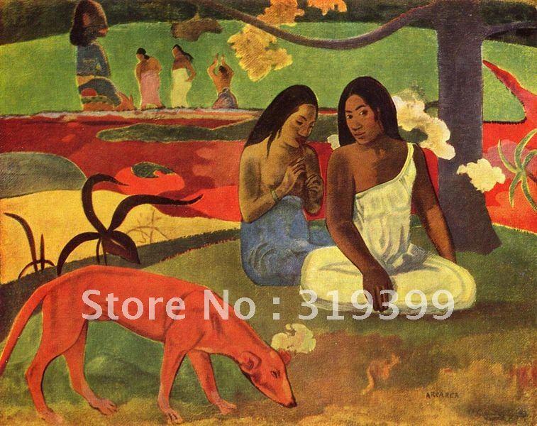 Peinture A L Huile Reproduction Arearea Bonheur By Paul Gauguin Livraison Gratuite Via Fedex Ou Dhl 100 Fait Main Peintures A L Huile W674