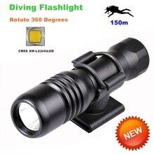 Diving diver LED Flashlight underwater torch CREE XM-L2 U4 waterproof light lamp 360 Degree Rotation Diving Flashlights-DIV18