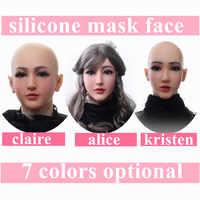 Künstliche Realistische Gefälschte Silikon Weibliche Gesicht Für Crossdresser Transgender Dragqueen Transen Maskerade Halloween Brust Formen