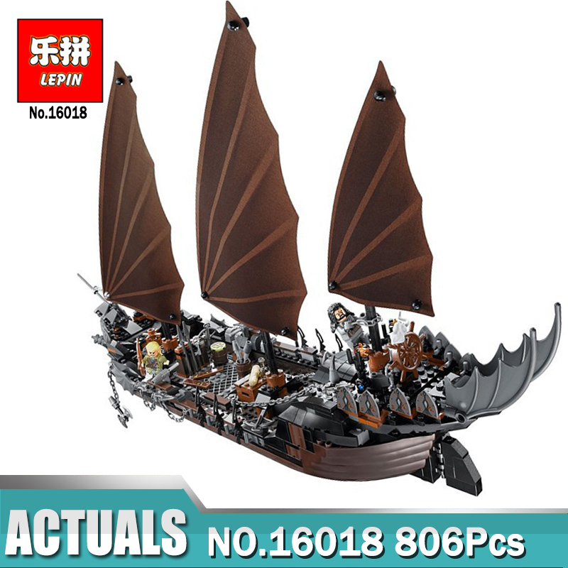 Lepin 16018 Genuine New The lord of rings Series 756pcs The Ghost Pirate Ship Set Building Block Brick Toys With Legoing 79008 16018 lepin lord of the rings the ghost pirate ship model building blocks enlighten figure toys for children compatible legoe