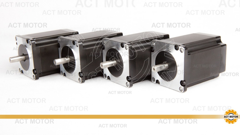Shipping From China!ACT 4PCS Nema23 Stepper Motor 23HS8840D8P1-C 0.5mm-Single Flat Shaft 8mm-Diameter 80mm 2.2N.m 8Leads CE ROHS