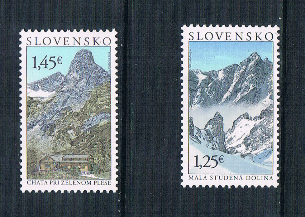 CR0426 Slovakia 2013 mountain scenery carved stamps 2 new 1208 Edition slovakia 1 280 000